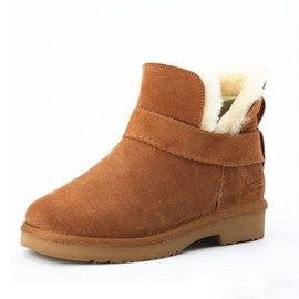 Ericdress Round Toe Slip-On Women's Wool Boots