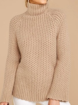 Ericdress Patchwork Regular Regular Turtleneck Long Sleeve Sweater