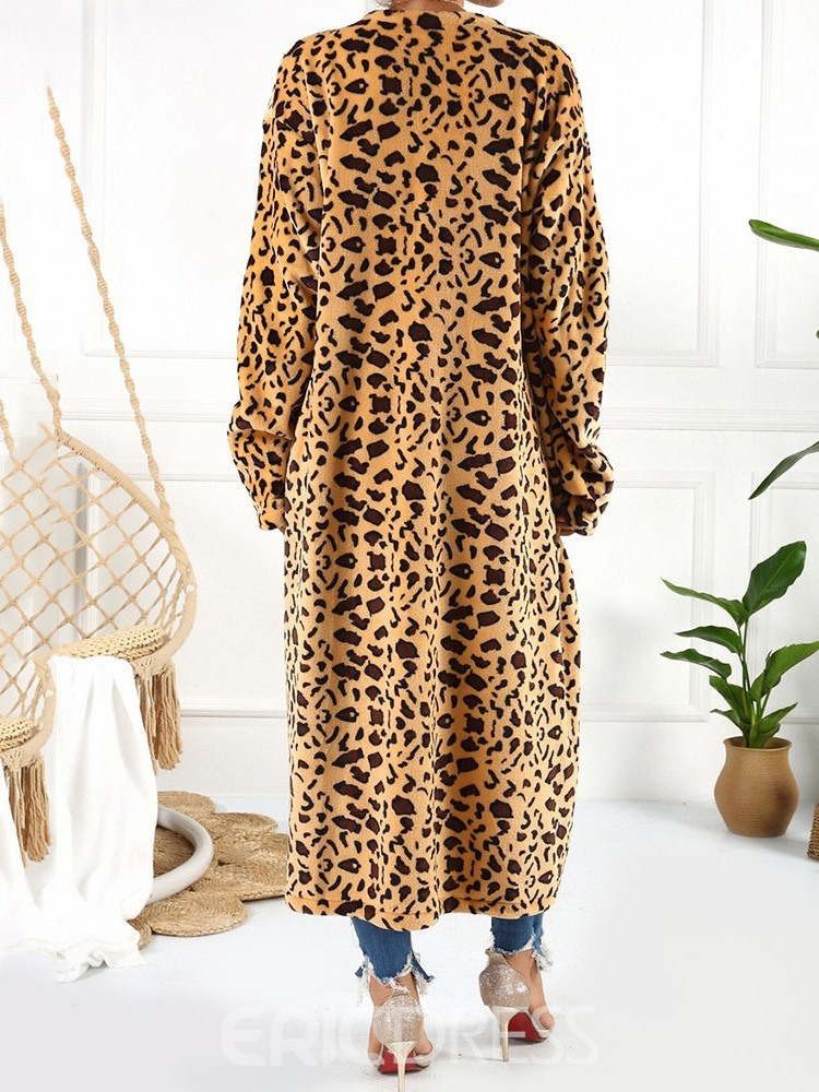 Ericdress Long Long Sleeve Straight Trench Coat