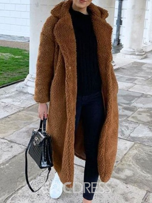 Ericdress Loose Lapel Winter Fashion Overcoat