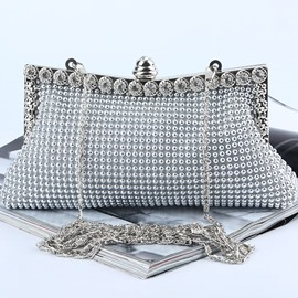 Ericdress Plain Rhinestone Banquet Clutches & Evening Bags