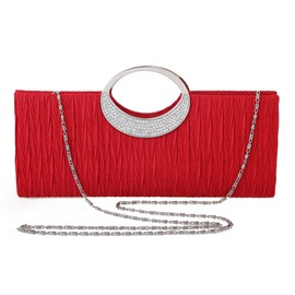 Ericdress Rectangle Versatile Satin Clutches & Evening Bags