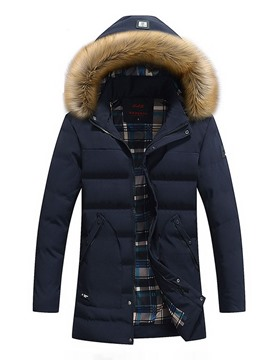 Ericdress Color Block Korean Zipper Men's Down Jacket