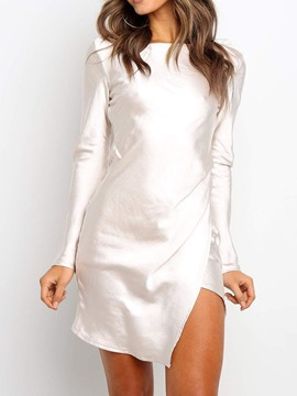 Ericdress Long Sleeve Round Neck Above Knee Sexy Dress