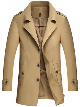 ericdress trench-coat slim avec poche simple