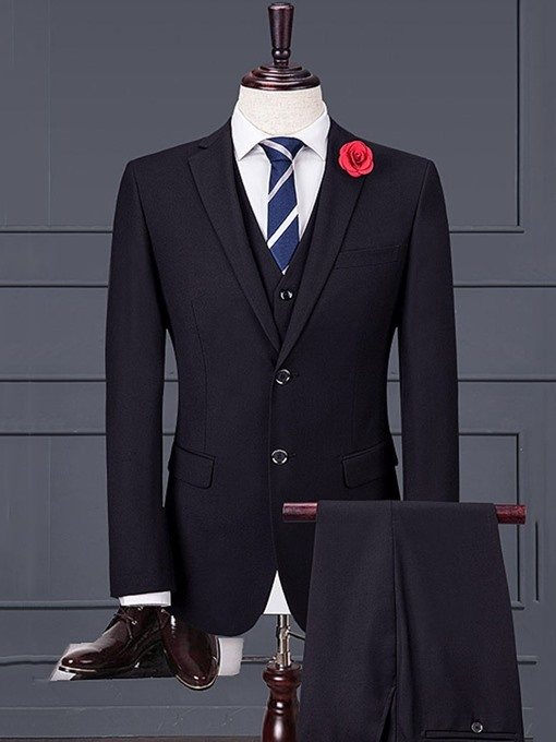 Ericdress Plain Formal Single-Breasted Men's Dress Suit