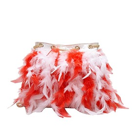 Ericdress Faux Fur PU Barrel-Shaped Crossbody Bags