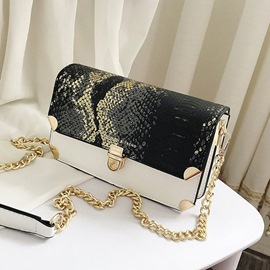 Ericdress PU Serpentine Embossing Rectangle Crossbody Bags