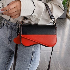 Ericdress Patchwork PU Rectangle Tote Bags