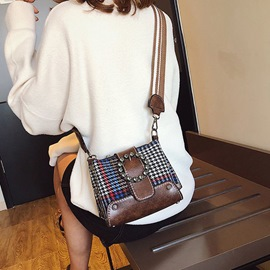 Ericdress PU Thread Houndstooth Rectangle Crossbody Bags
