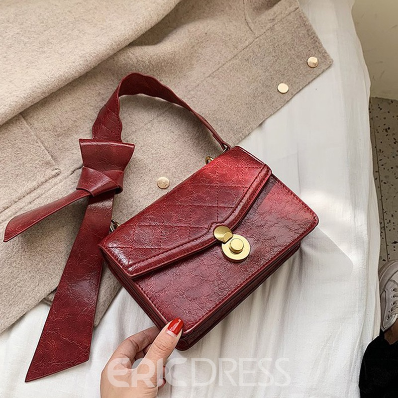 Ericdress PU Quilted Lining Flap Crossbody Bags