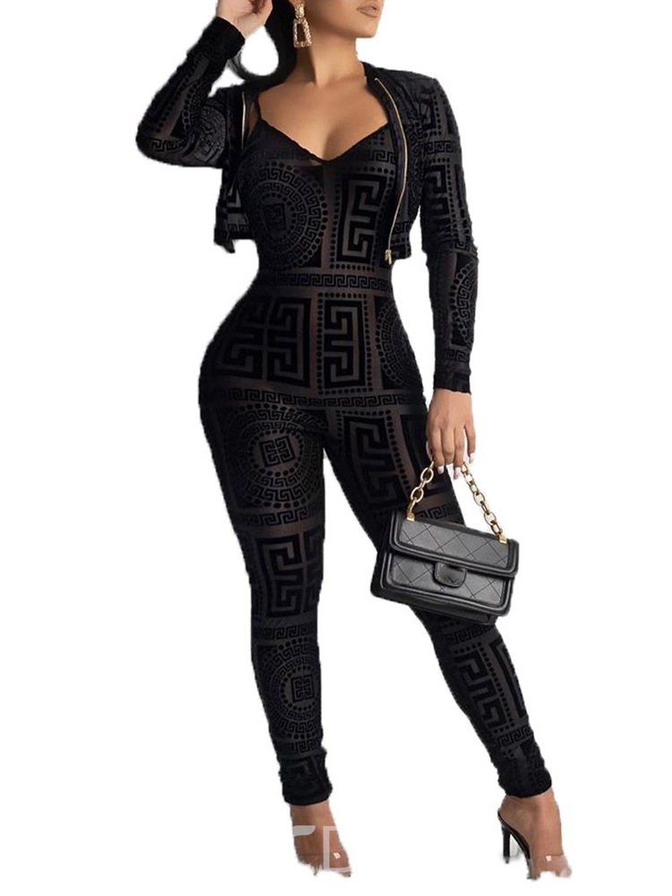 Ericdress Casual Print Slim Two Piece Sets