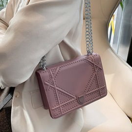 Ericdress Thread PU Geometric Flap Crossbody Bags