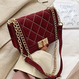 Ericdress Plaid Thread PU Rectangle Crossbody Bags
