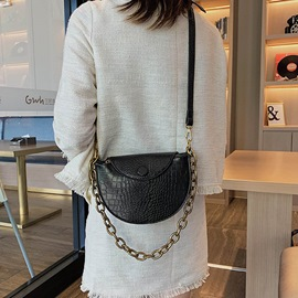 Ericdress Alligator PU Thread Saddle Crossbody Bags