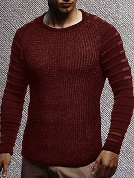 Ericdress Mid-Length Plain Round Neck Slim European Men's Sweater