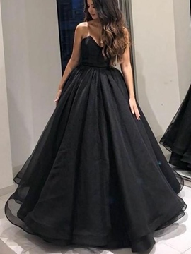 Ericdress Sweetheart A-Line Black Prom Dress 2019