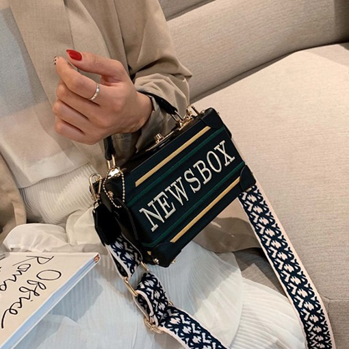 Ericdress PU Letter Print Flap Tote Bags