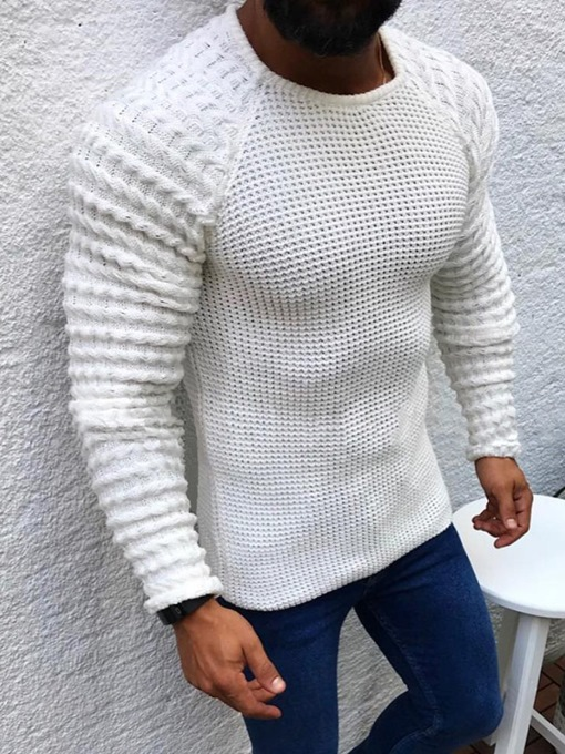Ericdress Round Neck Plain Standard European Men's Sweater