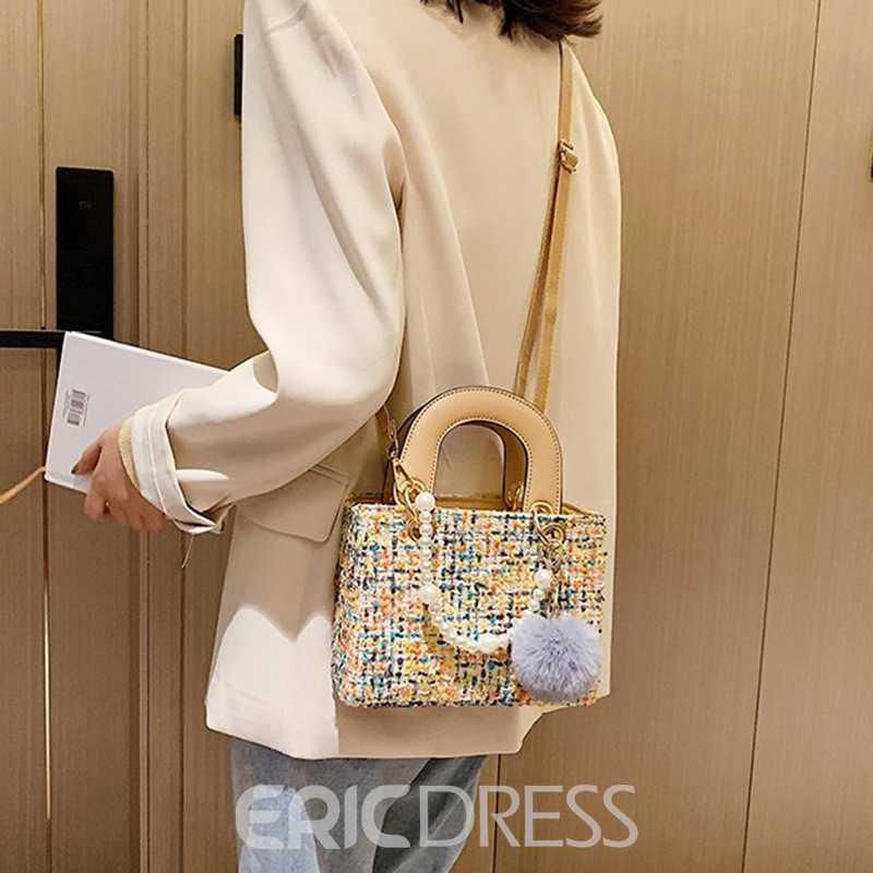 Ericdress Thread Wool Blends Rectangle Tote Bags