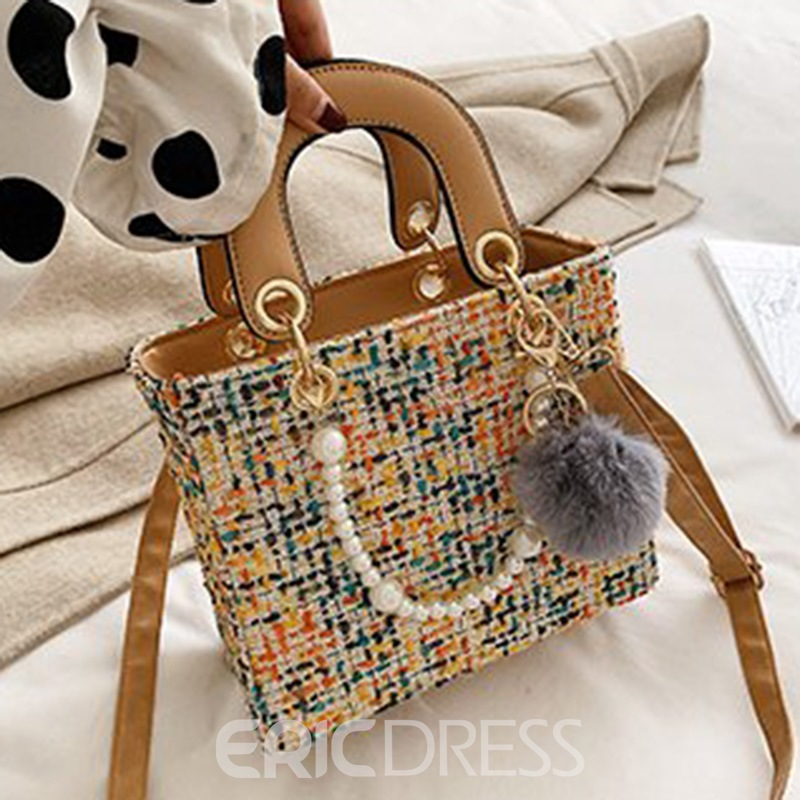 Ericdress Wool Blends Thread Rectangle Tote Bags