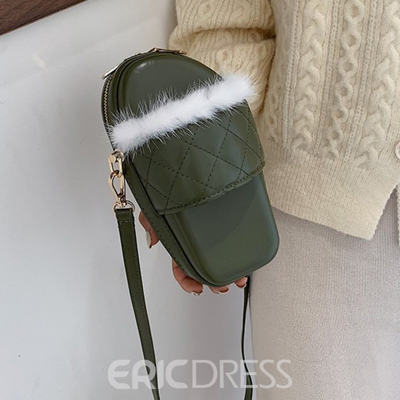 Ericdress Plaid PU Quilted Lining Crossbody Bags