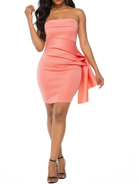 Ericdress Sleeveless Pleated Above Knee Summer Pullover Dress