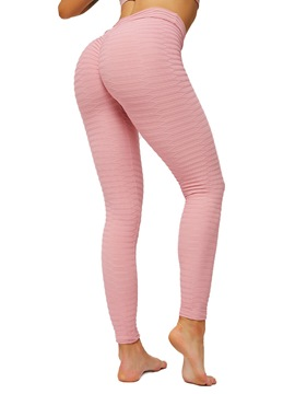 Ericdress Stripe Nylon Female Ankle Length Yoga Pants High Waist Tiktok Leggings