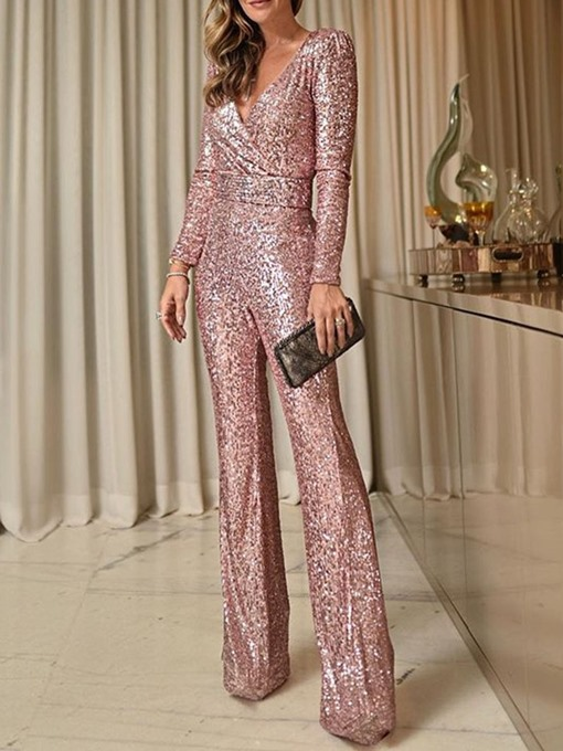 Ericdress Sequins Party/Cocktail Full Length Slim High Waist Jumpsuit