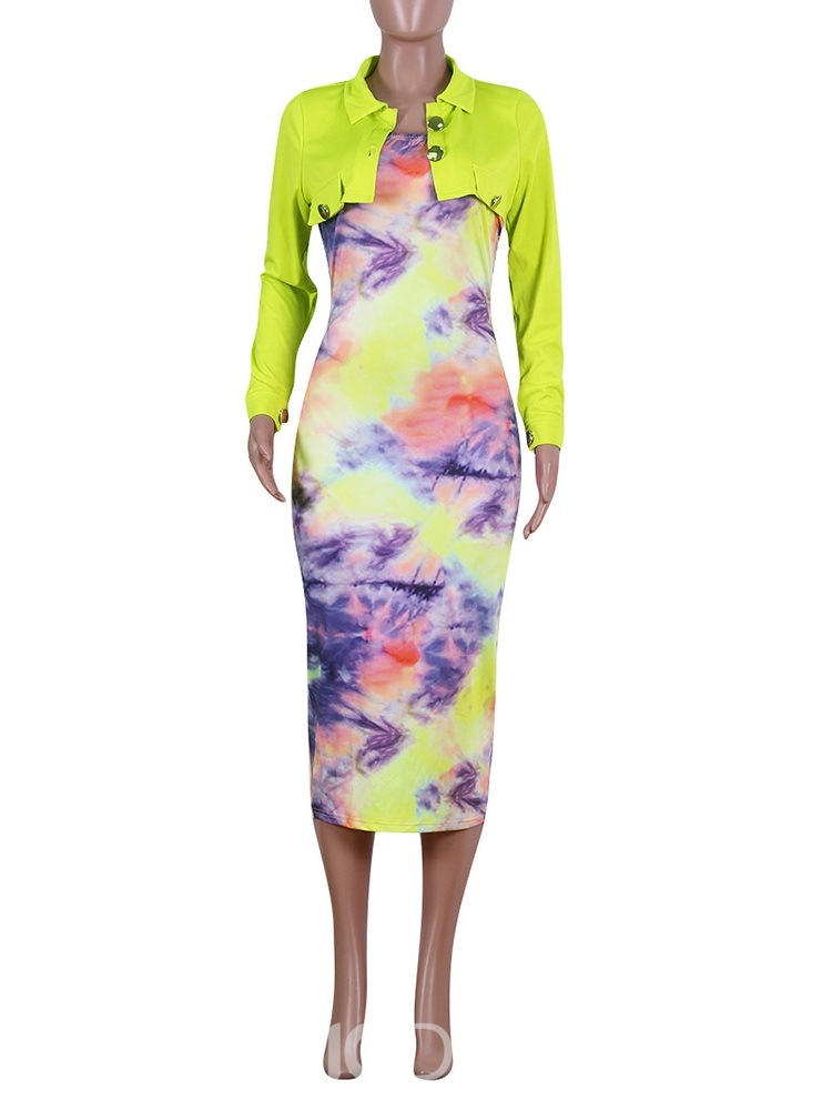 Ericdress Casual Print Lapel Single-Breasted Two Piece Sets