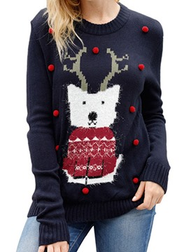 Ericdress Christmas Regular Mid-Length Straight Sweater