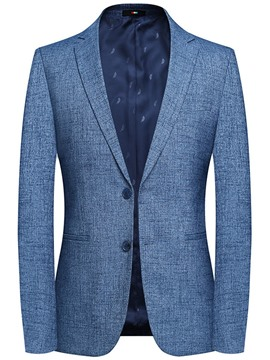 Ericdress Slim Patchwork Single-Breasted Men's Blazer