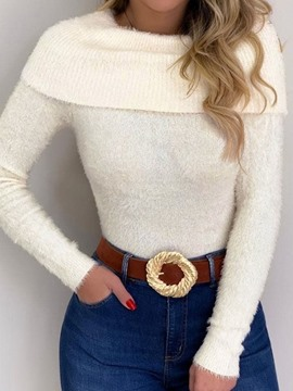 Ericdress Thin Regular Long Sleeve Slim Sweater