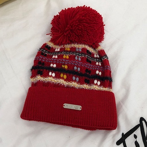 Ericdress Pompon Fall Stripe Hats