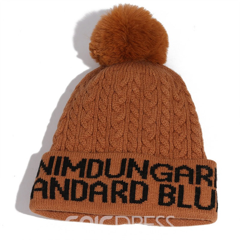 Ericdress Acrylic Fall Letter Knitted Hat