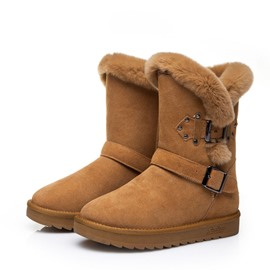 Ericdress Plain Slip-On Wedge Heel Women's Snow Boots