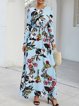 Ericdress Ankle-Length Long Sleeve Print Fall A-Line Dress