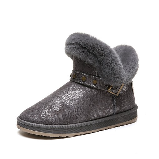 Ericdress Hasp Round Toe Plain Buckle Women's Winter Boots