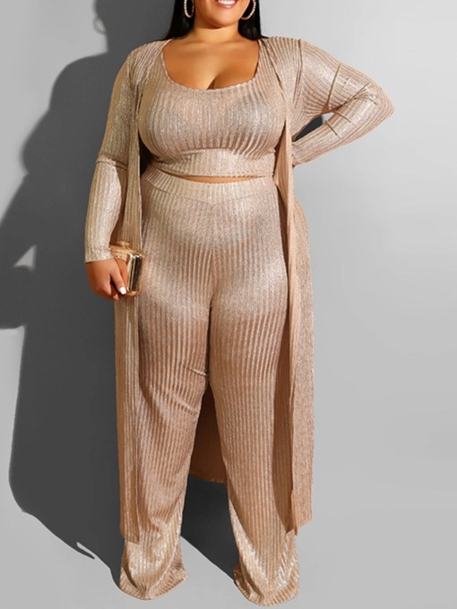 Ericdress Plus Size Plain Straight Two Piece Sets