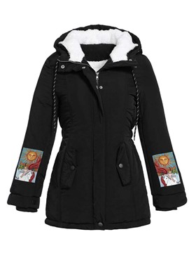Ericdress Slim Patchwork Thick Standard Cotton Padded Jacket