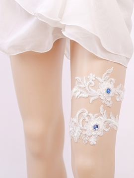 Ericdress Beading Floral Appliques Bridal Garters