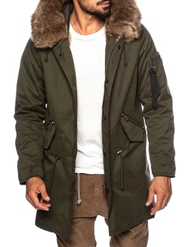 Ericdress Hooded Zipper Mid-Length Casual Men's Down Jacket