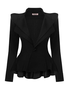Ericdress Long Sleeve One Button Plain Standard Regular Casual Blazer