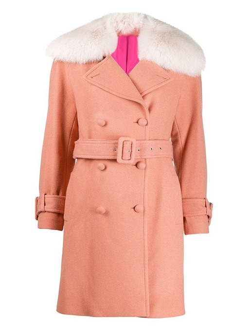 Ericdress Double-Breasted Straight Mid-Length Overcoat