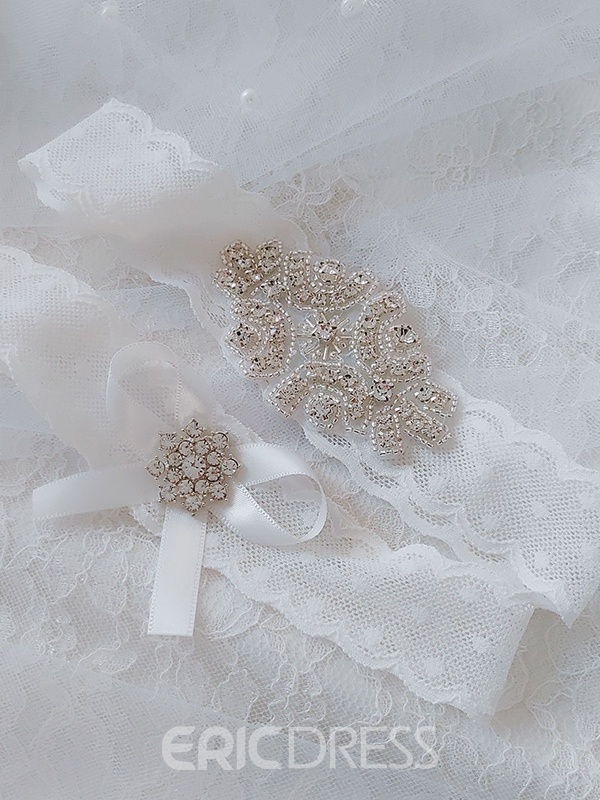 Ericdress Floral Diamond Lace Garters
