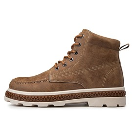 Ericdress Lace-Up Front Round Toe Men's Martin Boots