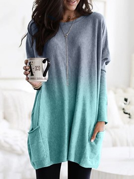 Ericdress Regular Regular Round Neck Long Sleeve Sweater