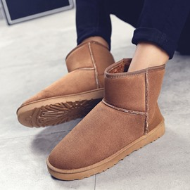 Ericdress Slip-On Plain Round Toe Men's Snow Boots