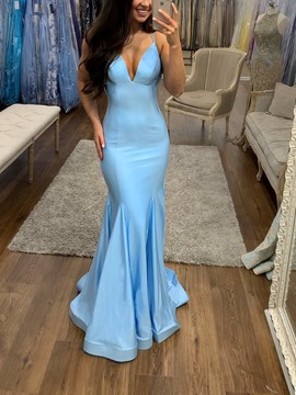Ericdress Spaghetti Straps Mermaid Prom Dress