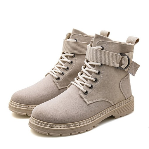 Ericdress Lace-Up Front Patchwork Round Toe Men's Boots